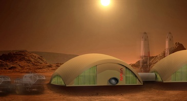 Mars Habitat - Architectural Design Plans Cleveland by redhouse studio
