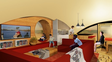 Bioshelter Interior by redhouse studio - Humanitarian Architecture Firm Cleveland